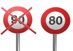 Limitation vitesse 80km / heure