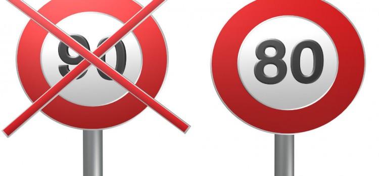 Limitation à 80 km/h sur certaines voies départementales en France